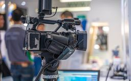 Live Streaming Broadcast With Studio Camera stock photography