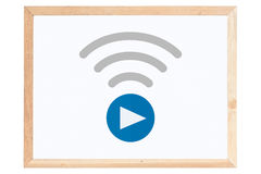 Live Streaming Icon on whiteboard Royalty Free Stock Image