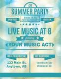 Live Summer Music-Flieger Lizenzfreies Stockbild