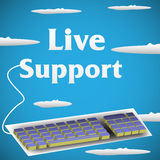 Live support Stock Image