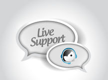 Live support message communication concept Stock Photo