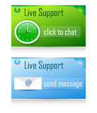 Live support signs Royalty Free Stock Photo