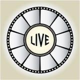 live tecken vektor illustrationer