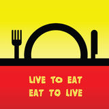 Live to eat Royalty Free Stock Photography