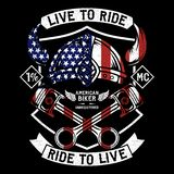 Live To Ride, Ride To Live stock illustration