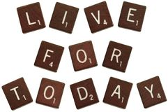 Live for today royalty free stock photography