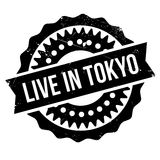 Live In Tokyo rubber stamp Stock Image