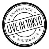 Live In Tokyo rubber stamp Royalty Free Stock Photography