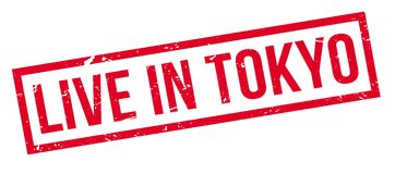 Live in Tokyo rubber stamp Royalty Free Stock Images