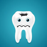 Live tooth with a hole going through Royalty Free Stock Photo