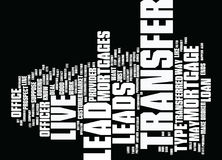 Live Transfer Leads Mortgages Text Background  Word Cloud Concept