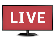 Live TV. Concept vector illustration. white background Royalty Free Stock Photography