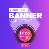 Live video blog vector social media time icon. Royalty Free Stock Photo