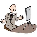 Live video businessman Stock Photo