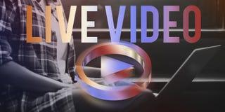 Live Video Player Concept Photos libres de droits