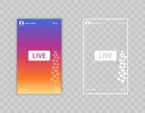 Live Video Streaming histórias fluir Ícone da ilustração do vetor isolado no fundo transparente ilustração royalty free