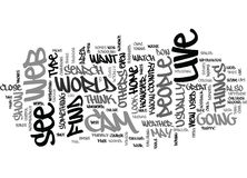 Live Web Cam Text Background  Word Cloud Concept Royalty Free Stock Photos