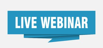 Live webinar. Sign.  paper origami speech bubble.  tag.  banner royalty free illustration