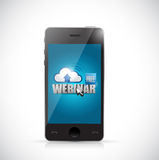 Live webinar on a smart phone. illustration Royalty Free Stock Photo
