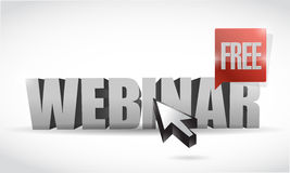 Live webinar text sign illustration design Stock Image