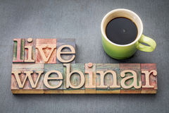 Live webinar word abstract  in wood type Stock Photo