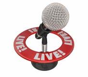 Live Word Microphone Stockfotografie