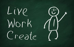Live, Work, Create Stock Photo