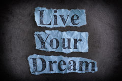 Live Your Dream. Concept image. Stock Photography