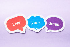Live your dream Royalty Free Stock Photo