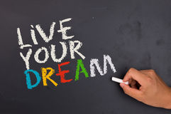 Live your dream. On white background Royalty Free Stock Images