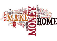 Live Your Dream When You Find Out How To Make Money From Home Text Background  Word Cloud Concept Stock Photography
