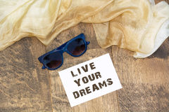 Live your dreams Royalty Free Stock Photography