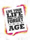 Live Your Life And Forget Uw Tijd Het inspireren Creatief de Affichemalplaatje van het Motivatiecitaat Vectortypografie vector illustratie
