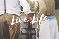 Live Your Life le concept en avant d'aspirations de motivation de manière image libre de droits
