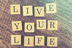 Live Your Life meddelande Royaltyfri Fotografi