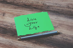 Live your life on paper Royalty Free Stock Photography