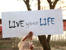 Live your life sign Royalty Free Stock Photography