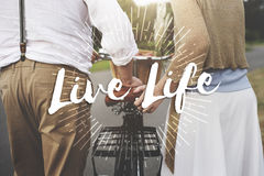 Live Your Life the Way Forward Motivation Aspirations Concept royalty free stock image