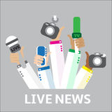 Liveberichtskonzept, Stockfoto
