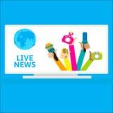 Liveberichtskonzept, Stockbilder