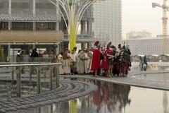 LiveGeburt Christisszene an der Geschäftsnabe, Mailand, #03 Stockfotos