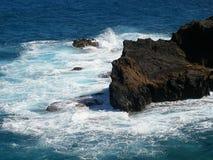 Livegen på ön av Oahu Hawaii Arkivfoton