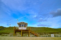 Liveguard Sylt. Lifeguard station on the Island Sylt in Germany Stock Image
