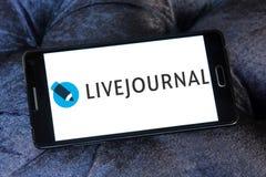 LiveJournal Social networking service logo. Logo of LiveJournal on samsung mobile. LiveJournal is a Russian social networking service where users can keep a blog stock photos