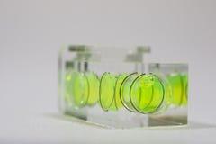 Livella a bolla con liquido giallo Immagini Stock