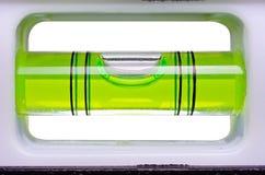 Livella a bolla verde Fotografia Stock
