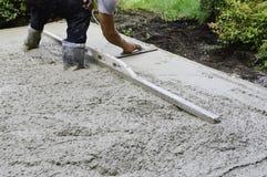 Livellamento del cemento Fotografia Stock