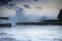 Livelli in aumento del mare del mutamento climatico Immagine Stock