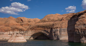 Livelli dell'acqua nel lago Powell Fotografia Stock Libera da Diritti
