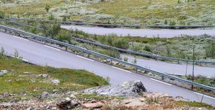 Livelli della strada della montagna Fotografia Stock